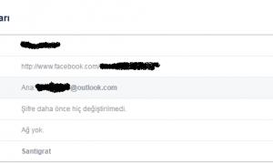 Facebook E-Posta Hesabı Değiştirme