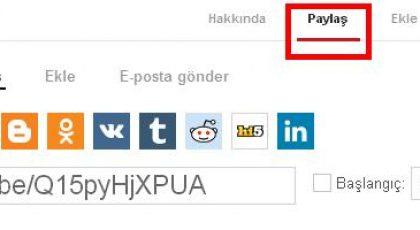 Youtube Videolarını Facebook'ta Paylasma