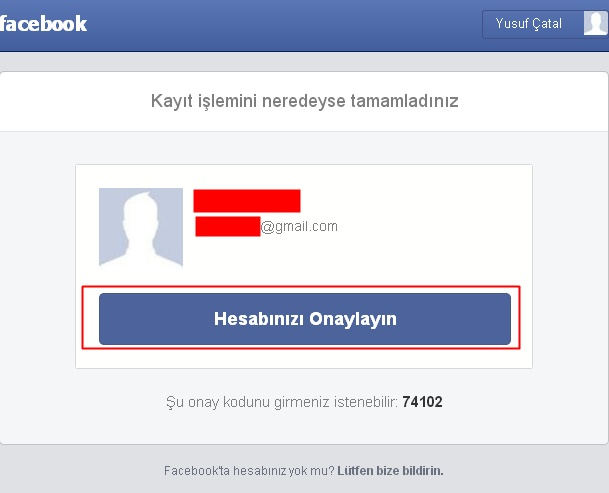 facebooka kaydolma