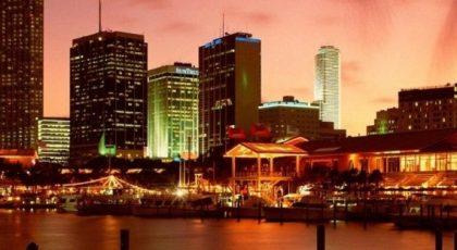 Orange Skyline of Miami facebook timeline cover 849 X 312 orange,skyline,Miami