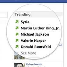 Facebook trend topics