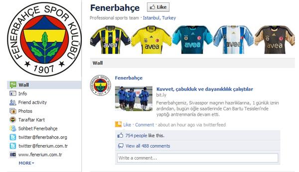 Fenerbahçe-Facebook-Sayfası