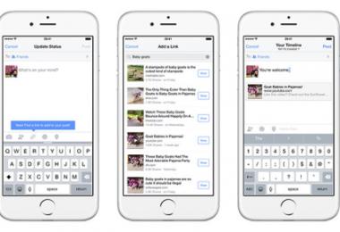 Facebook, IOS Uygulamasına Link Ekleme Desteği!